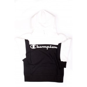 Champion Bambina Felpa Breaking Rules Logo Nero