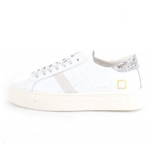 D.A.T.E. Donna Sneakers Vertigo Calf White-Silver