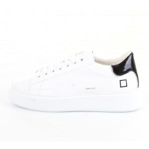 D.A.T.E. Donna Sneakers Sfera Calf White-Black