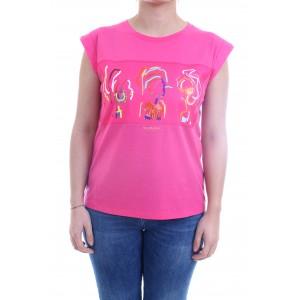 Nenette TLJ T-shirt Dingo fuxia
