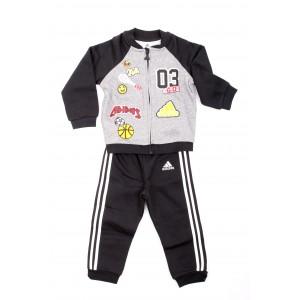 Adidas Tuta Bambino I Fun Jog FL Nera