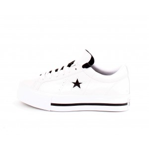 Sneakers Donna Converse All Star One Star Patform Ox Leather Bianche