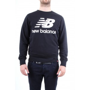 New Balance Uomo Felpa Girocollo Nera