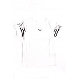 Adidas Bimbo/a T-shirt Outline Tee Bianca