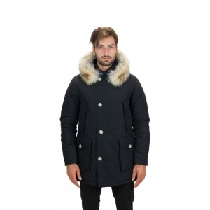 Woolrich Giaccone Uomo Arctic Parka DF Blu, Nero e Rosso