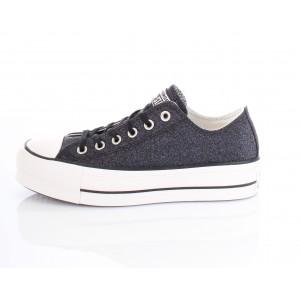 Converse All Star Sneakers Donna Glitter Ctas Clean Lift Nero