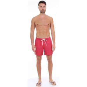 Lacoste Pantaloncino da Bagno in Taffetà Rosso