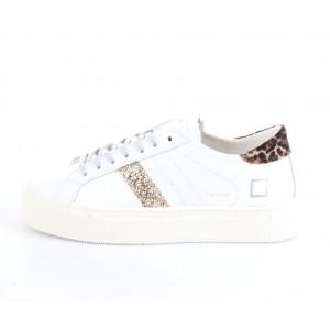 D.A.T.E. Donna Sneakers Vertigo Calf White-Leopard