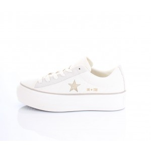 Converse All Star Sneakers Donna Platform Ox 560985C Bianche