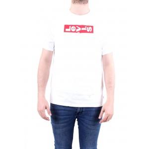 Levi's Uomo T-shirt Oversized Graphic Tee Bianca