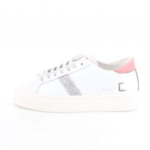D.A.T.E. Donna Sneakers Vertigo Calf White-Pink