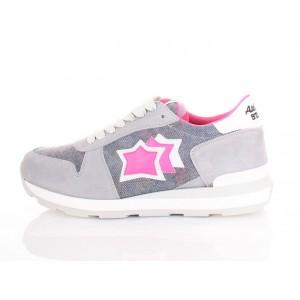 Atlantic Stars Sneakers Donna Gemma Grigia/Rosa Fluo