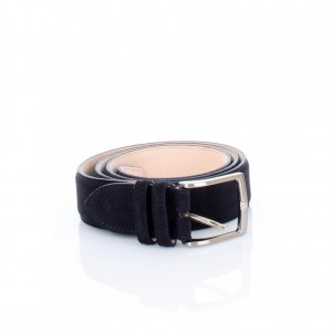 New Belt Milano Cintura in Pelle Scamosciata Blu