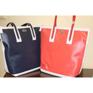 Borsa Lacoste Shopping Bag Eclipse Corallo e Blu