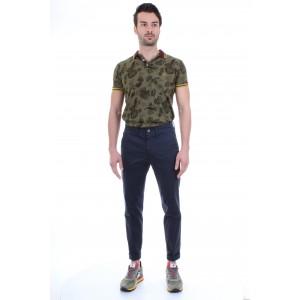 Jeckerson Pantaloni Uomo Ankle Chino Skin Blu