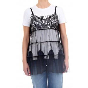 Silvian Heach Donna T-shirt + Vest.top SANTAELLA