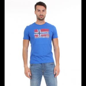 Napapijri T-shirt Uomo M.C. SOLLAS Bluette