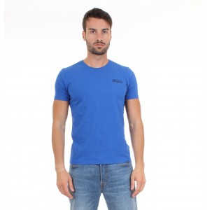 Woolrich T-shirt Uomo M.C. WOOTEE Logo Tee Bluette
