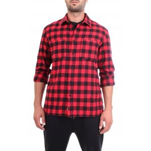 Woolrich Uomo Camicia Classic Flannel Rossa e Nera